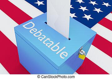 -, concept, politique, debatable