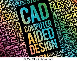 -, conception, cao, aidé, informatique