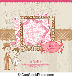 -, conception, invitation, vecteur, mariage, album, félicitation, carte