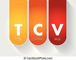 -, contrat, acronyme, total, valeur, tcv
