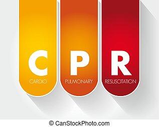 -, cpr, réanimation, acronyme, cardiopulmonaire