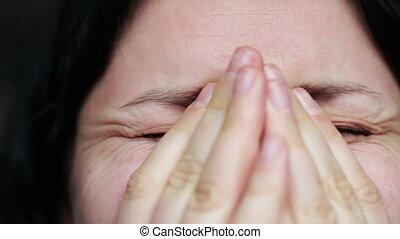 -, cri, larmes, closeup, expression, figure