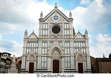 -, croce, フィレンツェ, イタリア, santa