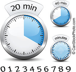 -, cronômetro, um, vetorial, cada, mudança, fácil, tempo,...