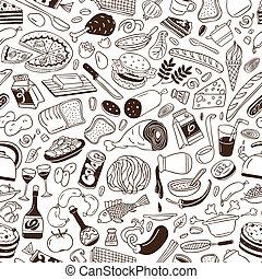 -, cuisine, fond, seamless