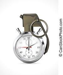 -, date limite, chronomètre