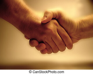 - Deal! - Shaking hands.