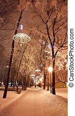 -, decoraciones, 2017, invierno, enero, ucrania, kharkiv