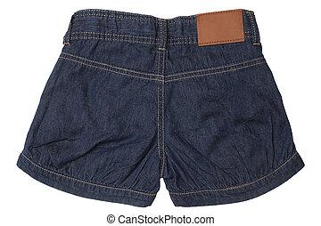 -, desgaste filhos, shorts, calças brim