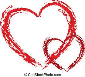 -design, coração, elemento