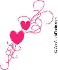 -design, hjärta, element