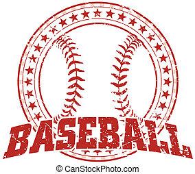 -, design, weinlese, baseball