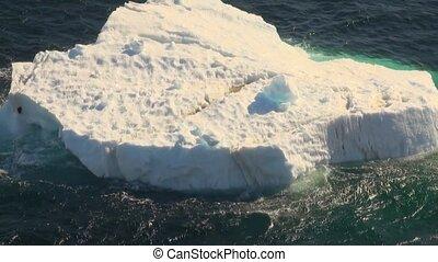 -, destination, voyage, closeup, antarctique, icebergs