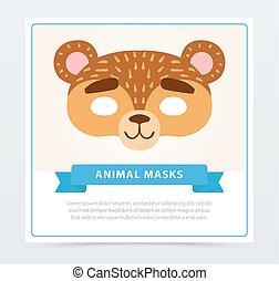 Diseño De Máscaras De Carnaval De Cerdos Concepto Animal