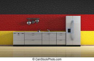 Cocina Un Bonito Dibujo De Una Cocina Ordenada