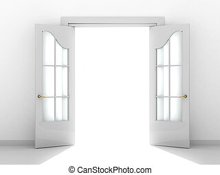 open door clipart black and white. Open Door - Conceptual Image A Way To Success Clipart Black And White P