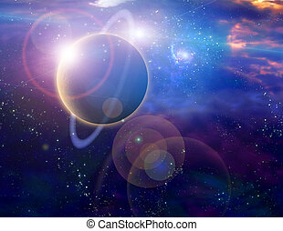 Galaxy planet. Illustrations and clipart royalty