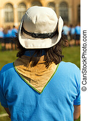 -, dziewczyna wywiadowca, włochy, kapelusz