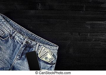 -e, farmernadrág, pocket., mozdulatlan, furfangos, life., készpénz