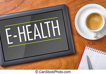 -, e-health, tablette, bureau
