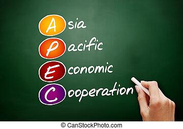 -, együttműködés, betűszó, békés, gazdasági, apec, ázsia