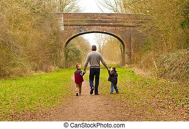 -eik, gyalogló, nemz gyermekek