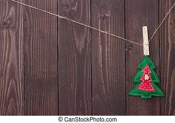 -eik, kézbesít, saját, karácsony, apró