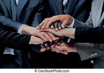 -eik, munkás, csoport, kézbesít