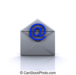 -, email, illustrazione, 3d