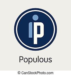 -, emblem., cryptocurrency, populous., ppt, o, mercado, ...