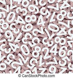 -, endlessly, números, coloridos, fundo