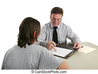 -, enregistrement, direction, permanent, conseiller