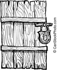closed door clipart. Old Wooden Door Closed Clipart 3
