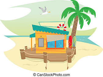 Beach Hut Illustrations And Clipart 675 Royalty Free