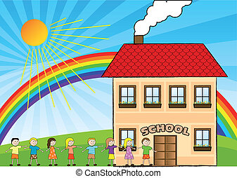 school children illustrations and clipart 91 913 school children rh canstockphoto com school clipart free school clipart pictures