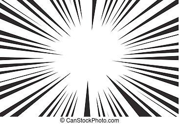 Rayos Solares Retro Fondo Vector Cómico Gráfico De Rayas