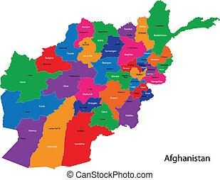 Karte Afghanistan Provinzen.Grune Afghanistan Karte Green Afghanistan Landkarte