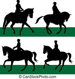 -, equestre, dressage