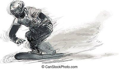 -, erwerbsunfähigkeit, athleten, snowboard, physisch
