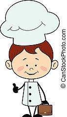 -, esposizione, pollice, carattere, chef, cucina