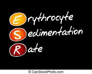 -, esr, beskatta, akronym, erythrocyte, sänka