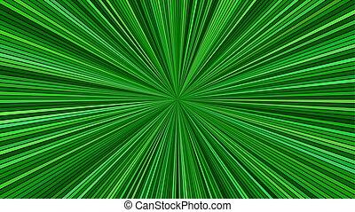-, estrella, vector, concepto, geometrcial, explosión, plano de fondo, psicodélico, velocidad, gráfico, verde