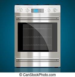 -, estufa, gas, aparatos, cocina