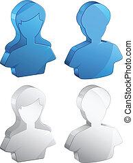 -, förbrukare, illustration, avatar