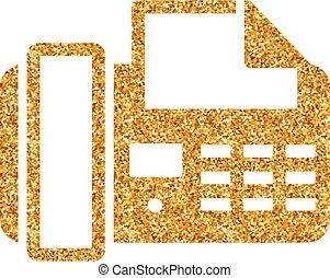 -, facsimile, schitteren, goud, pictogram