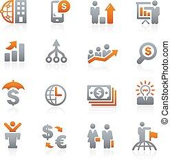 --, financiero, grafito, empresa / negocio