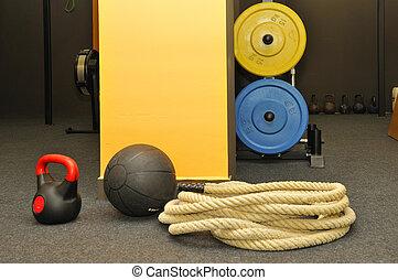 -, fitness, passen, functioneel, kruis