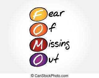 -, fomo, félelem, elveszett, ki