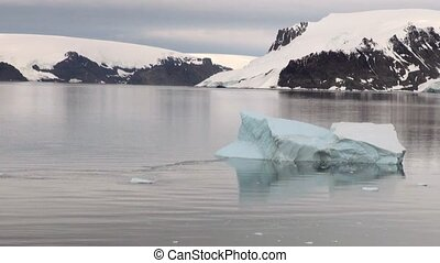 -, formations, littoral, antarctique, george, glace, roi, île