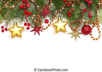 -, freigestellt, dekoration, weißes, umrandungen, weihnachten